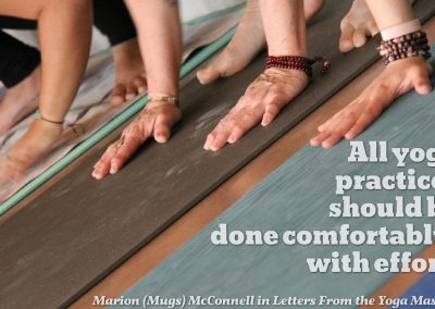 comfortable with effort