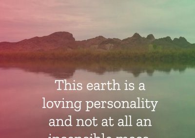 earth is loving personality